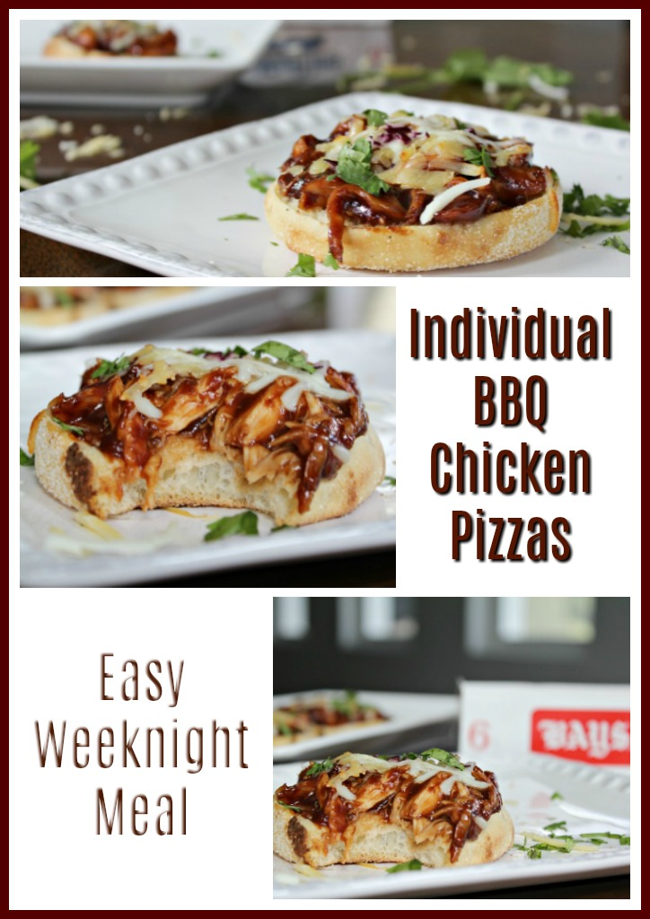 BBQ Chicken English muffin pizza