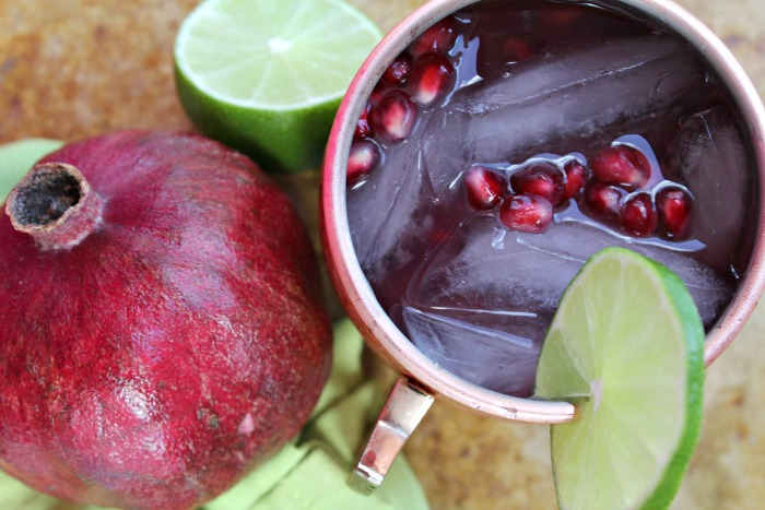 Pomegranate Moscow Mule Cocktail