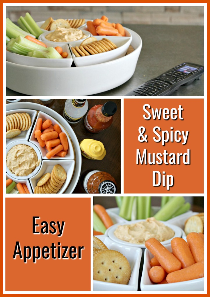 Easy Appetizer Spicy and Sweet Mustard Dip