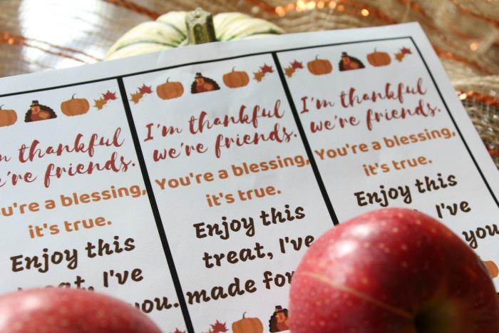 Free Thanksgiving Gift Tag Printable