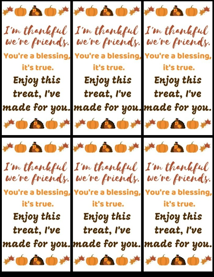 Thanksgiving Gift Tag Printable