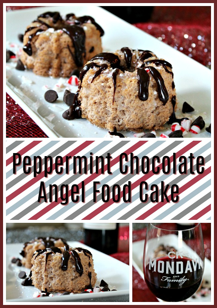 Peppermint Chocolate Angel Food Cake