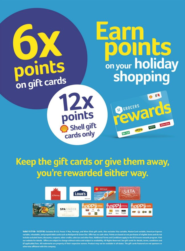 Winn Dixie SE Grocer Rewards