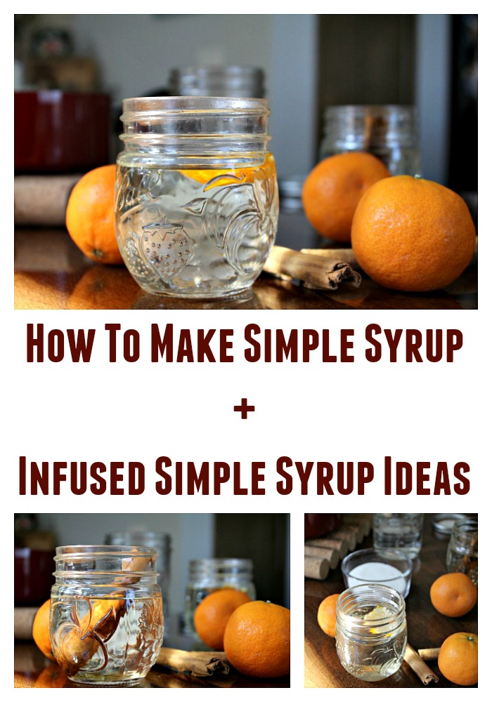 Flavor Infused Simple Syrups