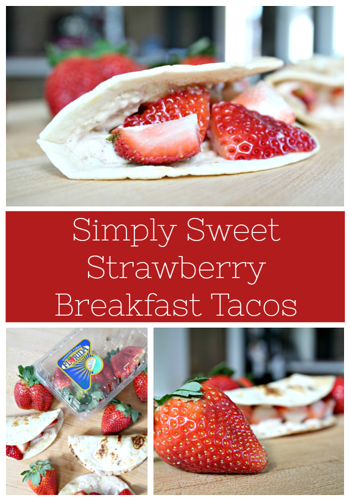 Sweet Strawberry Breakfast Tacos