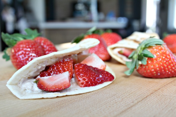 Easy Strawberry Breakfast Tacos
