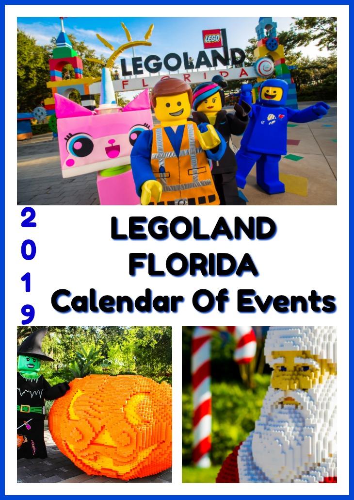 2019 LEGOLAND Florida Calendar of Events