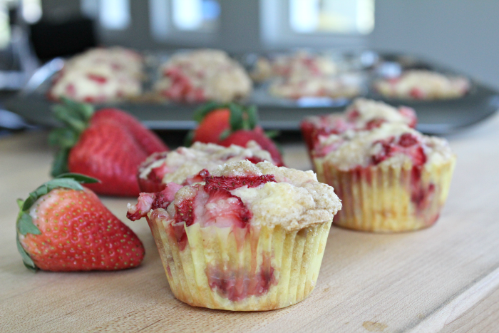 Strawberry Muffins from scratch