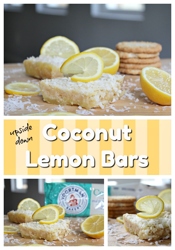 Best Coconut Lemon Bars with cookie crust