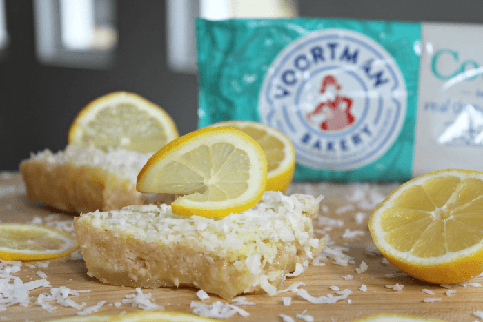 Coconut Lemon Bars with cookie crust