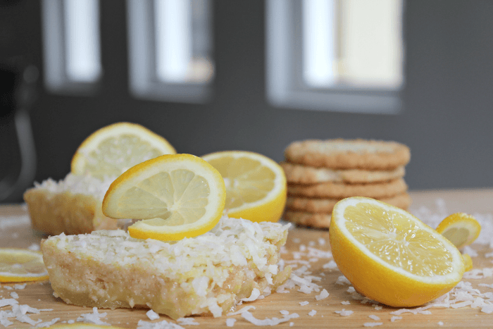 Upside Down Coconut Lemon Bars