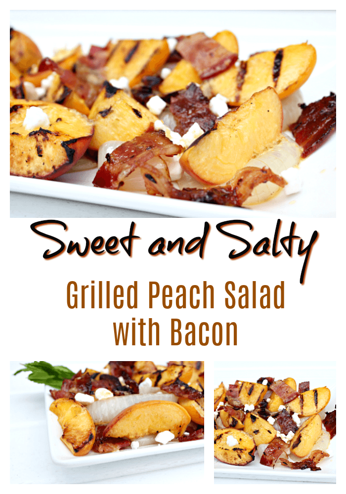 Tasty Grilled Peach Salad with Bacon