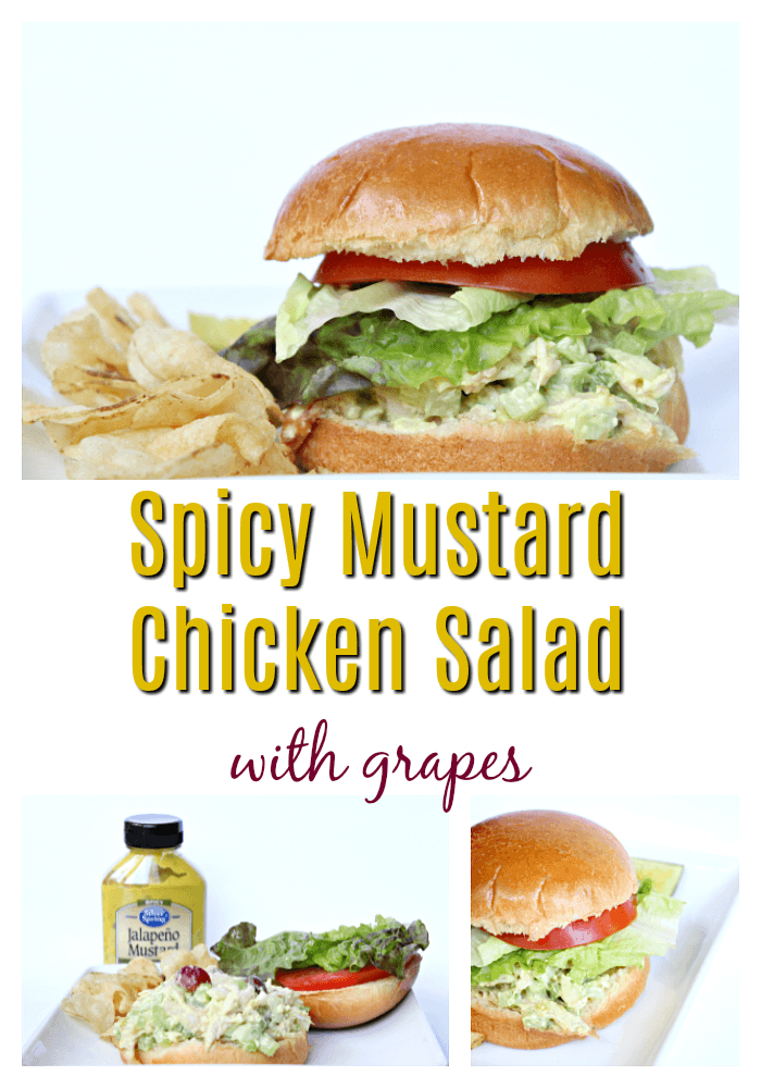 Spicy Mustard Chicken Salad with Grapes