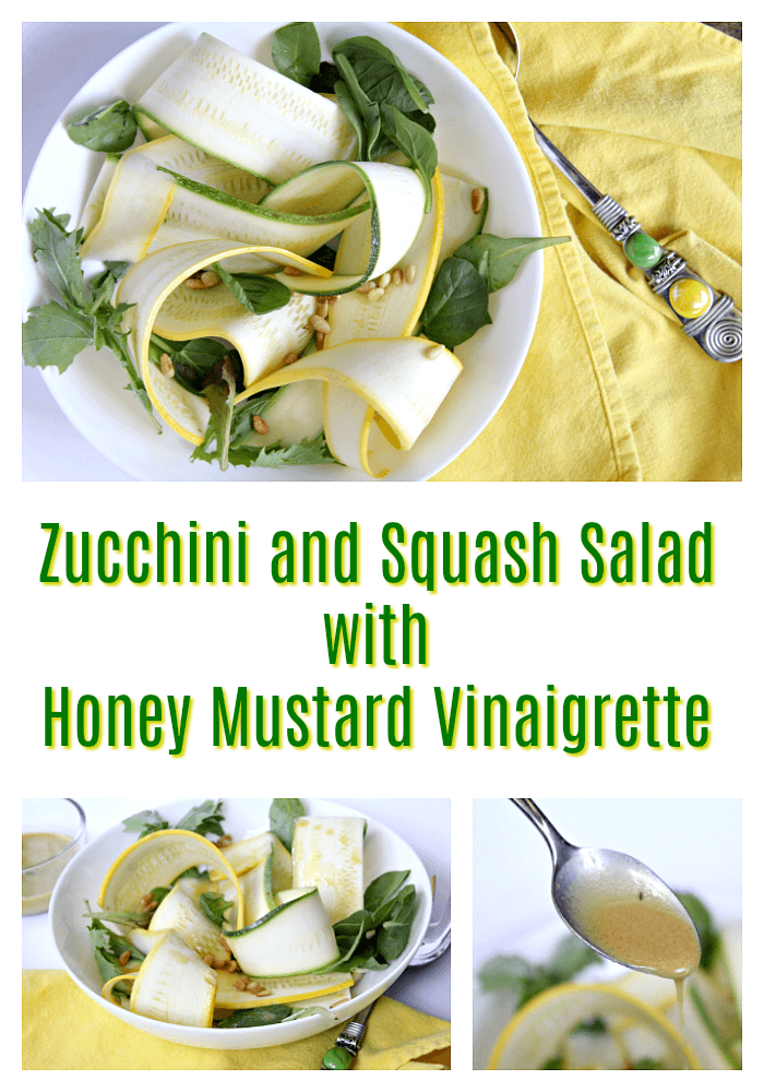 Best Zucchini and Squash Salad with Honey Mustard Vinaigrette