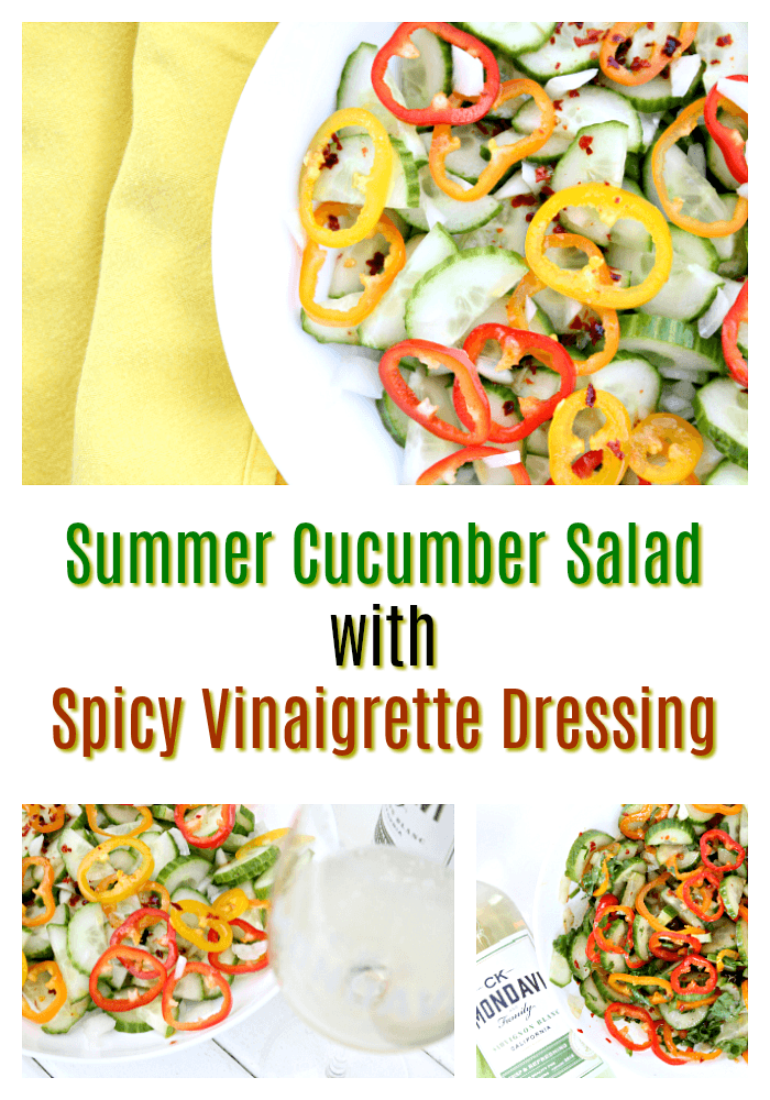 Cucumber Salad with Spicy Vinaigrette Dressing