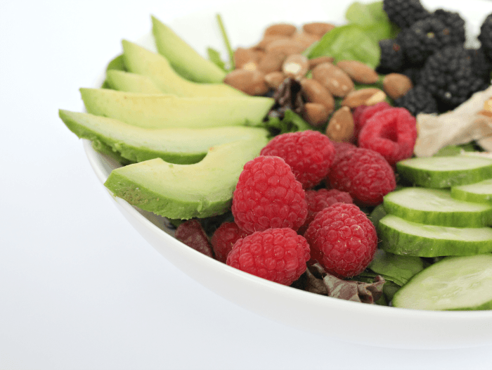 Healthy Berry Avocado Chicken Salad