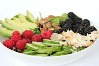 Berry Avocado Chicken Salad