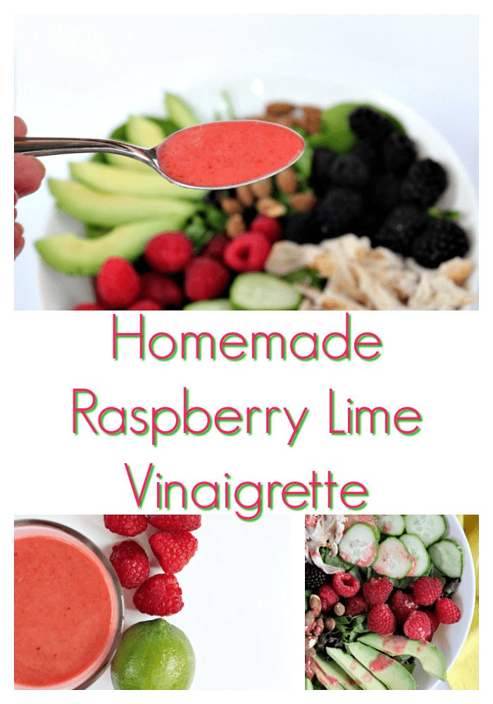 Homemade Raspberry Lime Vinaigrette Dressing