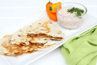 Easy Cheesy Quesadillas with Creamy Mexican Dip-image