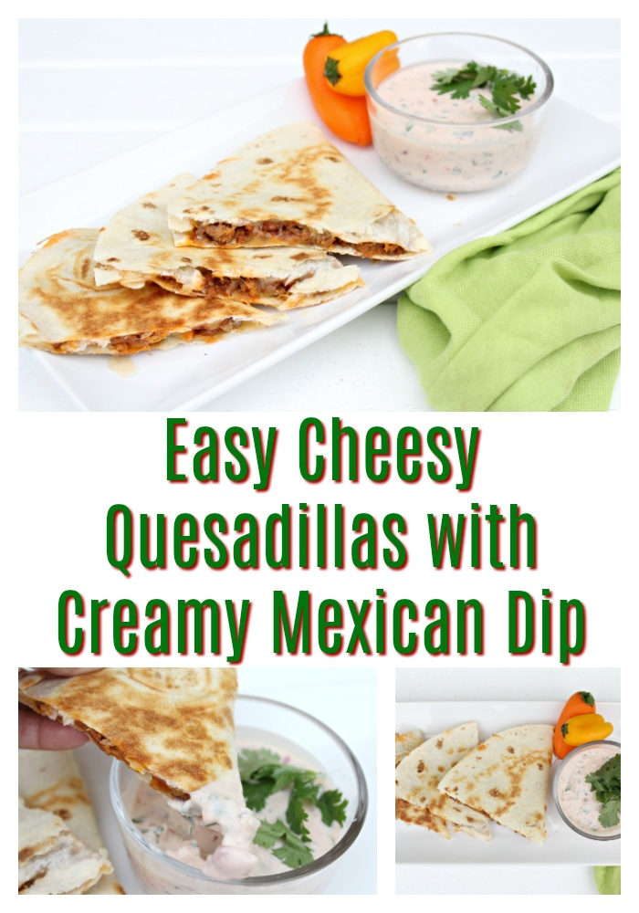 Delicious Cheese Quesadillas with Mexican dip