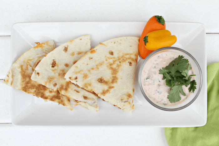 Easiest Cheese Quesadillas