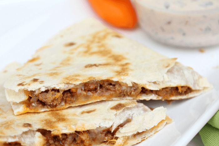 Easiest Cheesy Quesadillas