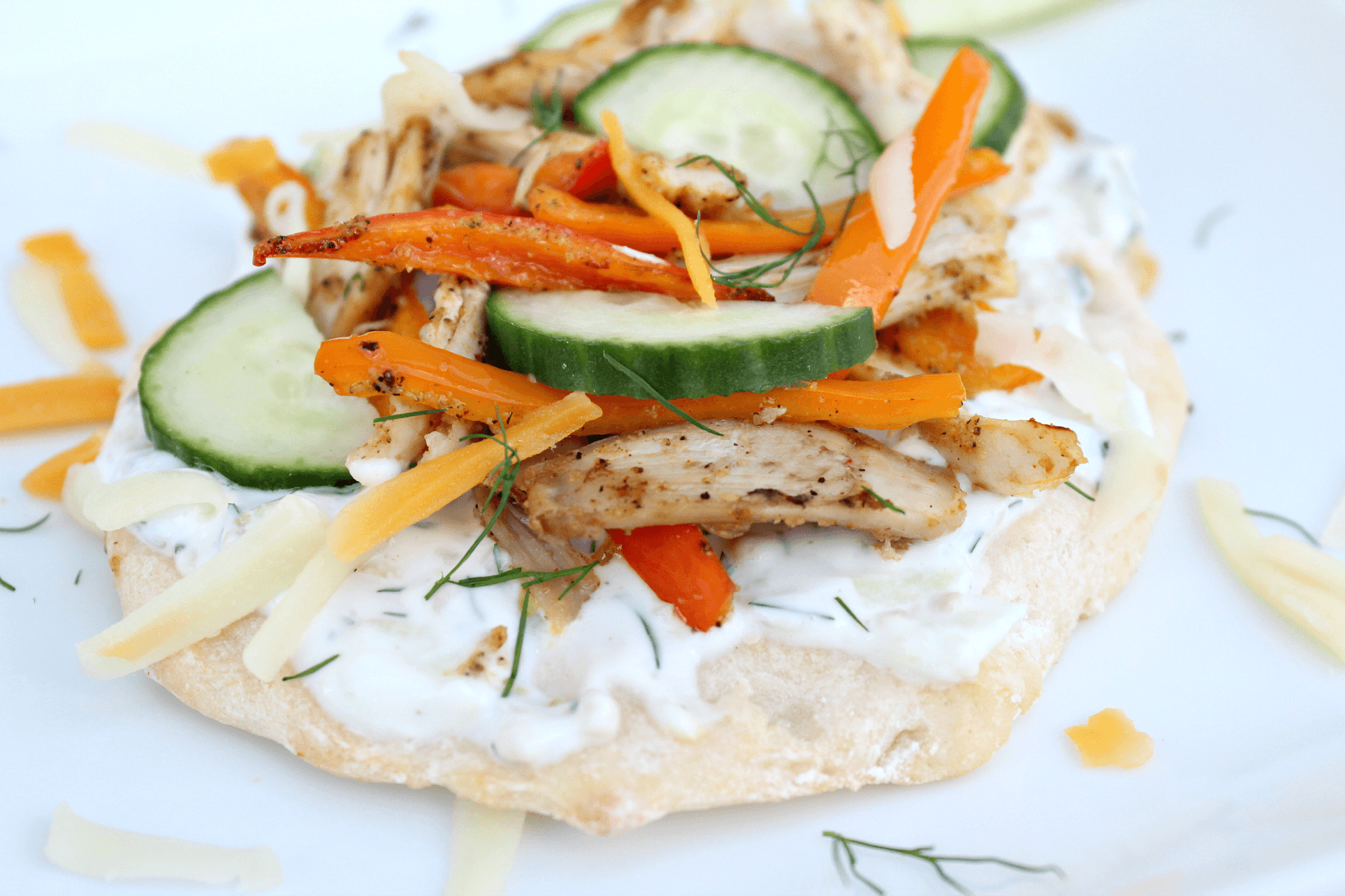 Healthy Greek Pizza with Chicken