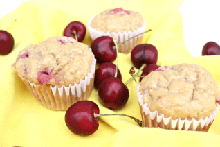 Easy & Healthy Cherry Muffins - 2 Weight Watchers Points-image