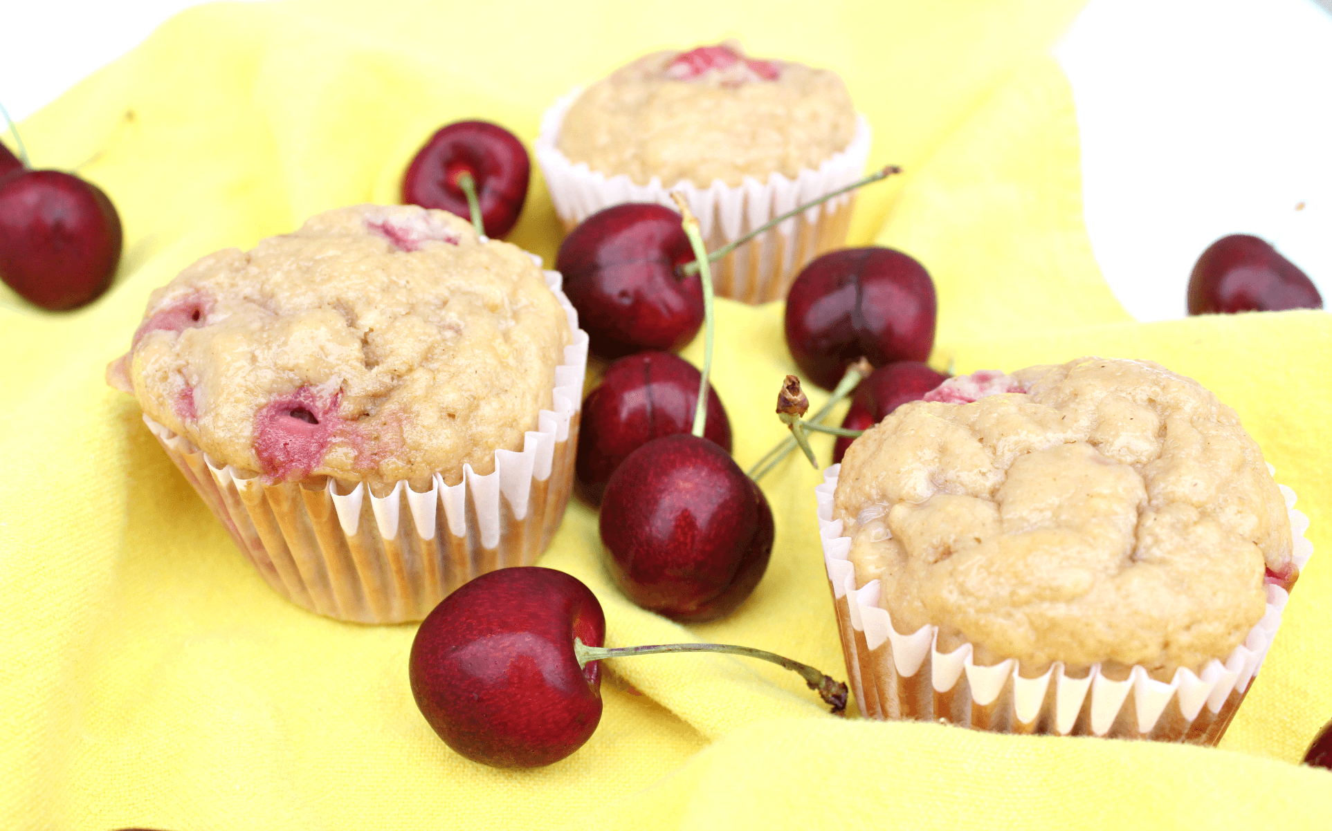 Easy & Healthy Cherry Muffins