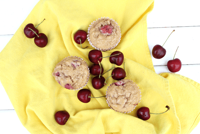 Easiest Homemade Cherry Muffins