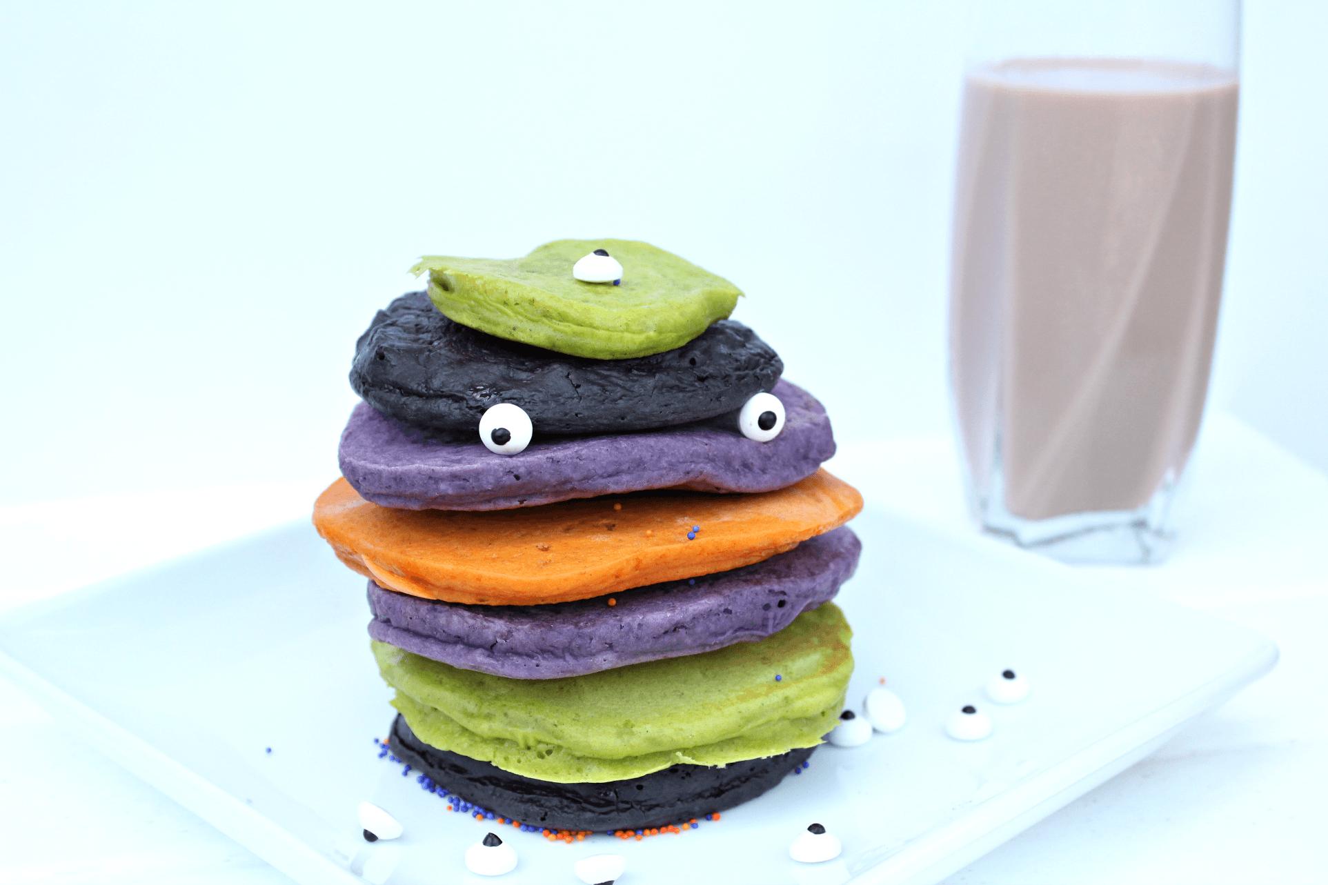 Easiest Halloween Pancakes