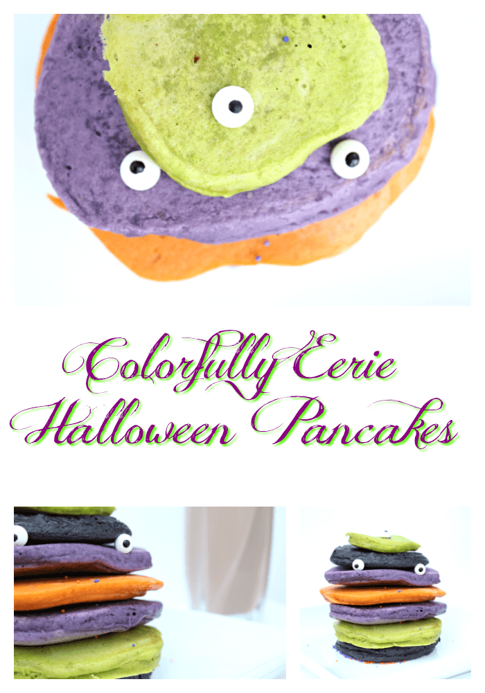 Best Colorful Halloween Pancakes