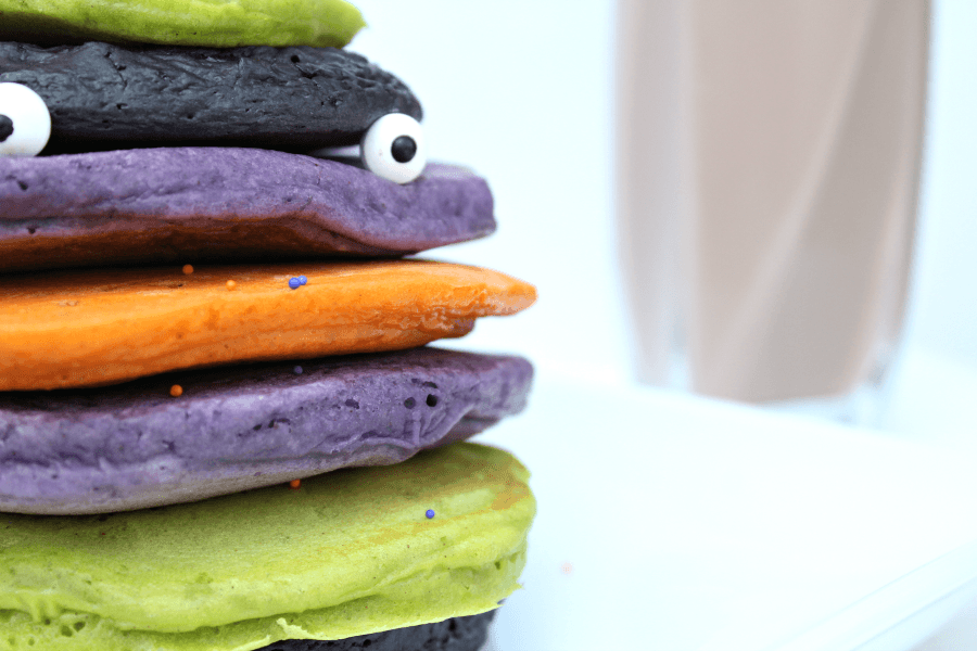 Halloween Colored Pancakes
