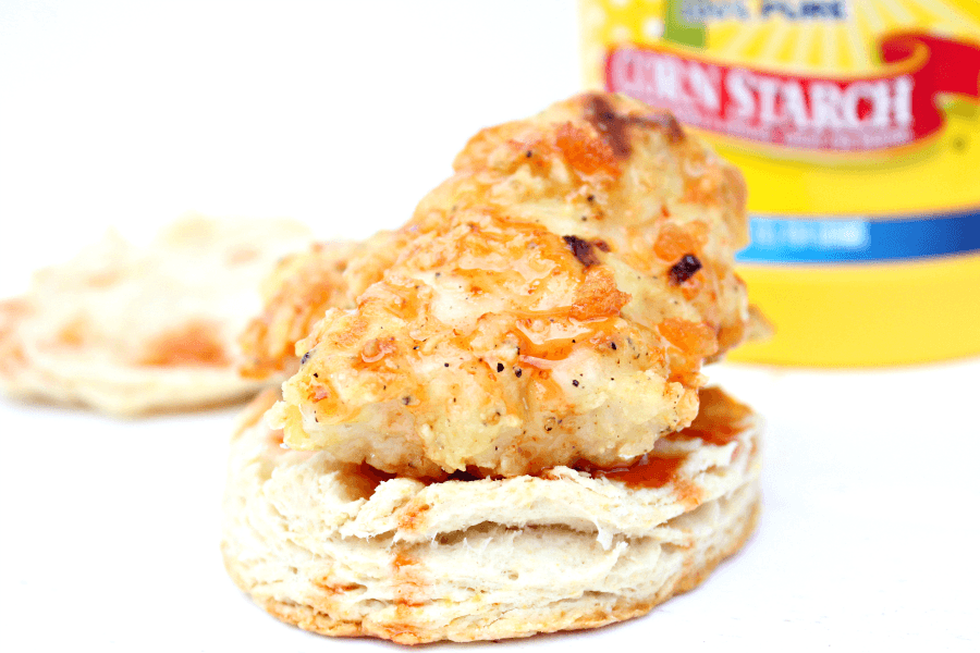 Oven Fried Chicken Biscuit Sandwiches