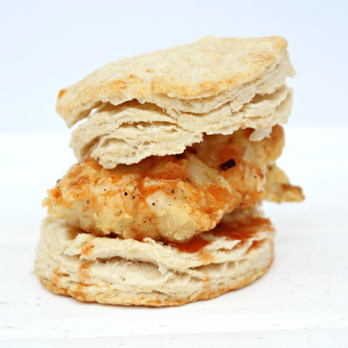 Oven Fried Chicken Biscuit