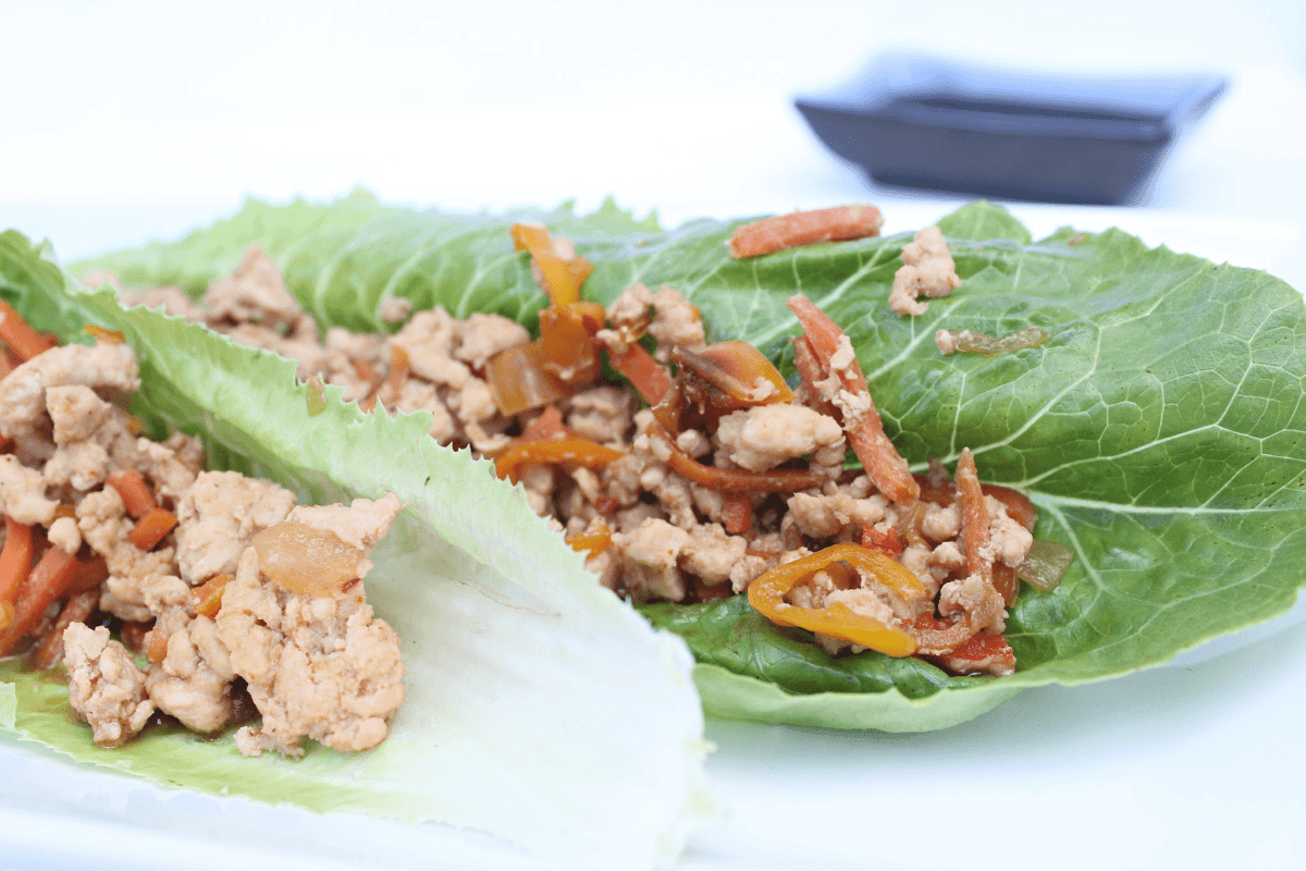 Easiest Asian Chicken Lettuce Wraps