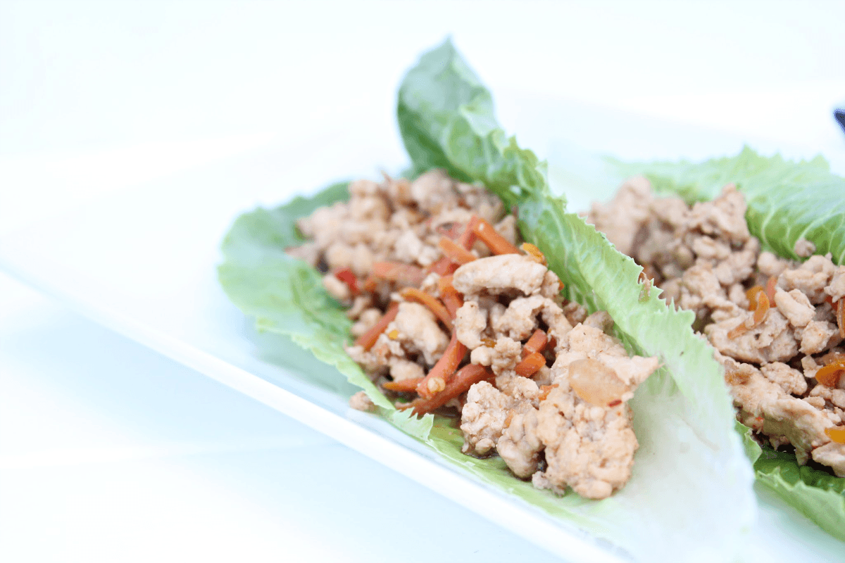 Best Low Carb Asian Chicken Lettuce Wraps