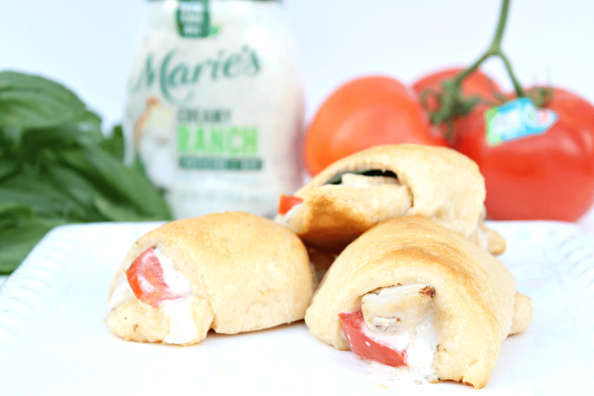 Ranch Tomato Basil Chicken Crescent Rolls