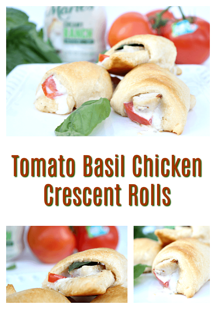Easy Tomato Basil Chicken Crescent Rolls