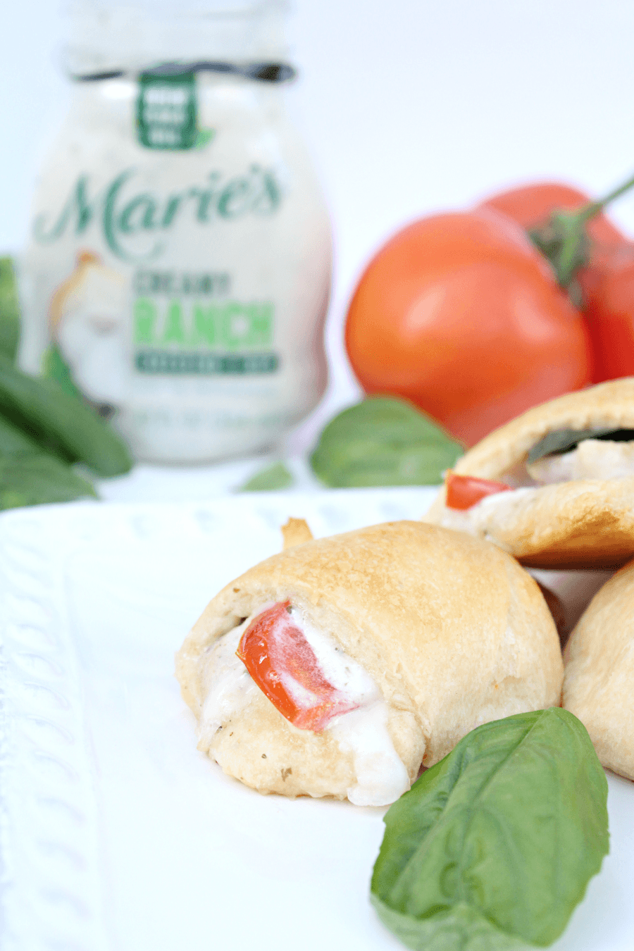 Tastiest Ranch Tomato Basil Chicken Crescent Rolls