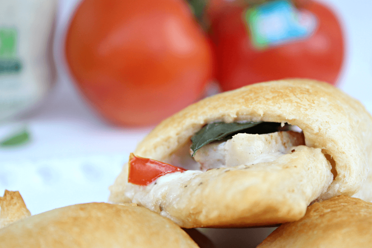 Tasty Tomato Basil Chicken Ranch Crescent Rolls
