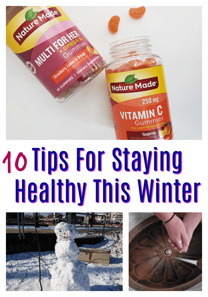 Tips For Staying Healthy In The Winter | Fight cold and flu season and the winter blues by following these simple 10 Tips For Staying Healthy This Winter. Read more healthy living tips, healthy recipes and fitness tips on foodwinesunshine.com