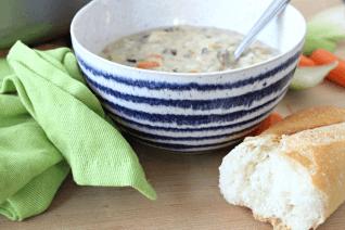 Creamy Turkey and Wild Rice Soup-image
