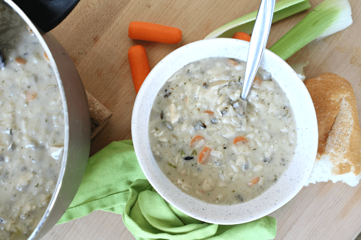 Tasty Turkey and Wild Rice Soup