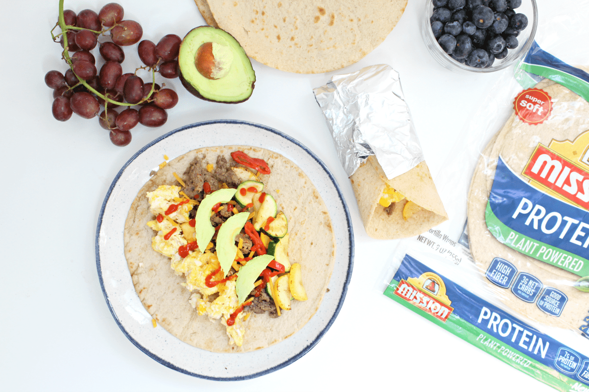 Best Turkey Sausage Breakfast Burritos