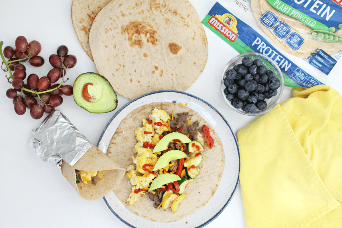 Easy Protein Packed Breakfast Burritos