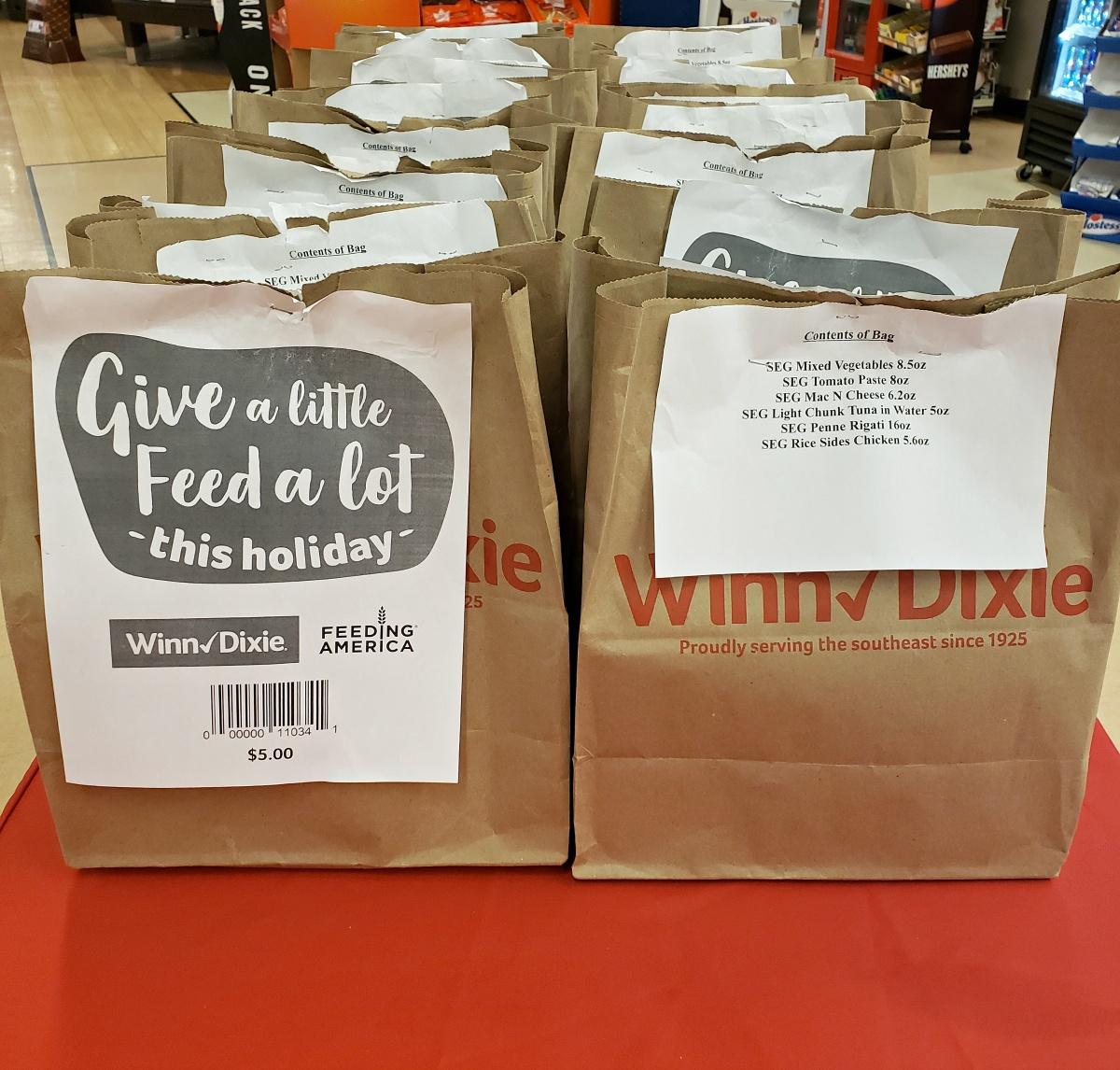 Feeding America Donations at Winn Dixie