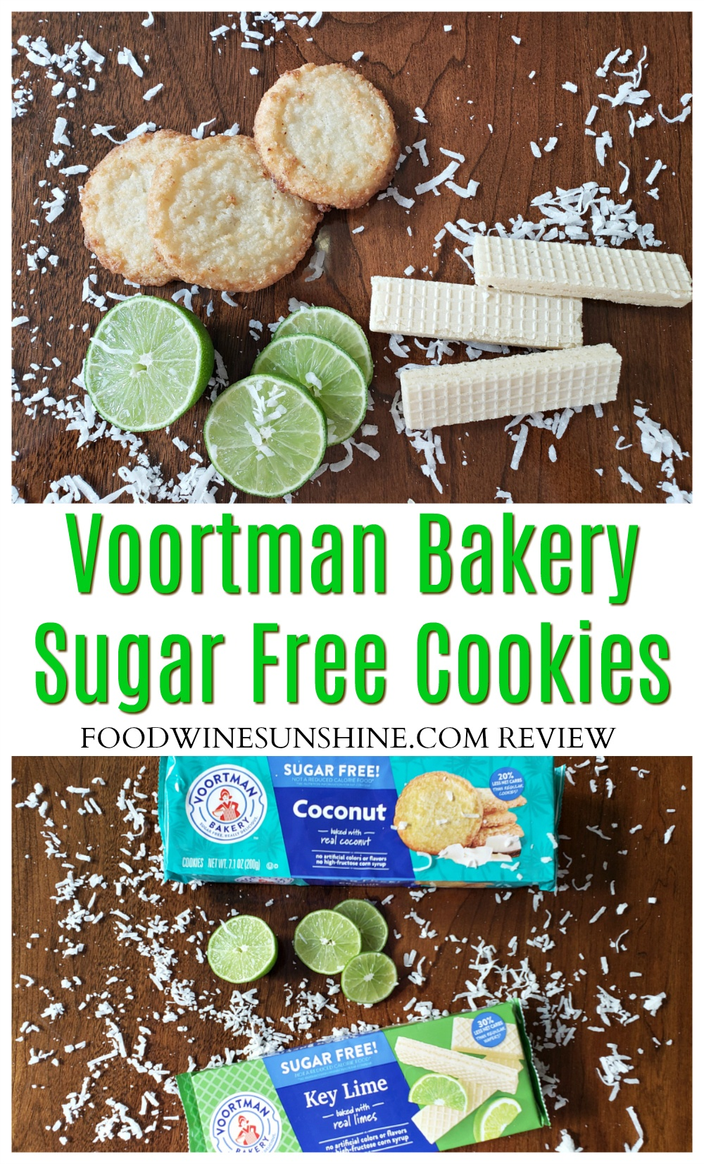 Voortman Bakery Sugar Free Cookies | You can find the two new flavors of Voortman Sugar Free Cookies and Wafers at your favorite retailers. Get a taste of the tropics with Voortman Bakery sugar free key lime wafers and sugar free coconut cookies.