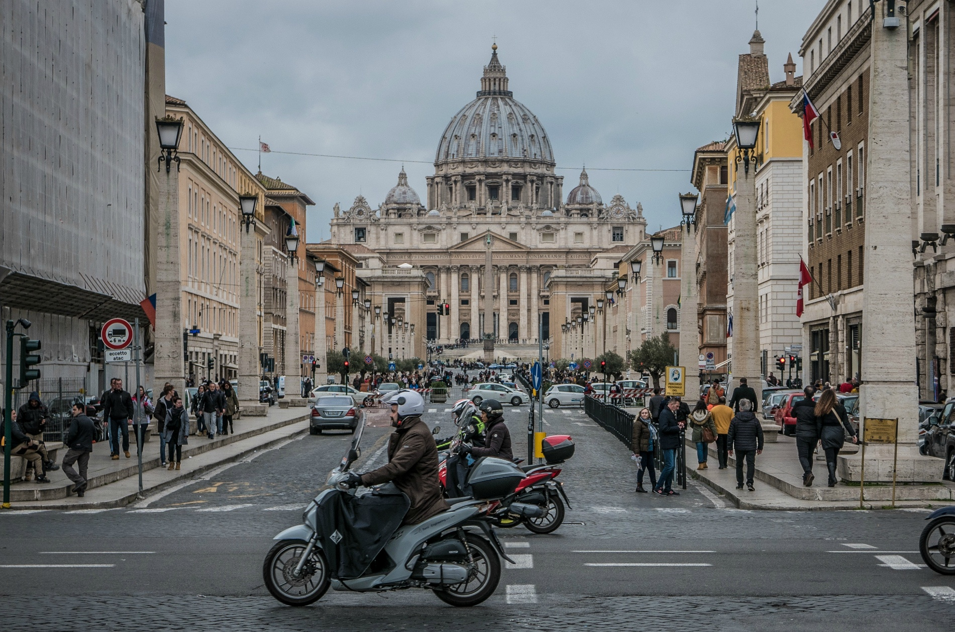 Visiting St. Peter's Square in Rome