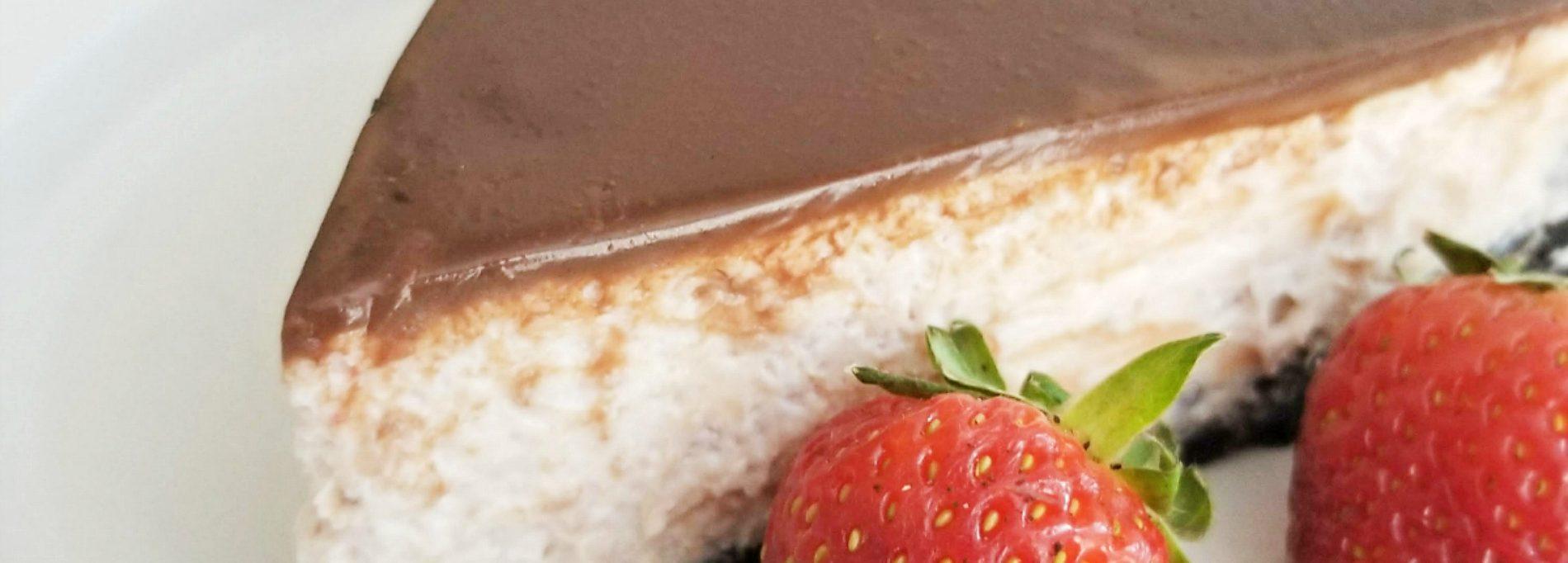 Chocolate Covered Strawberry Cheesecake
